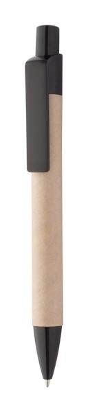 Recycled Paper Ballpoint Pen Reflat - Natural / Black