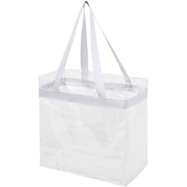 Hampton transparent tote bag - White
