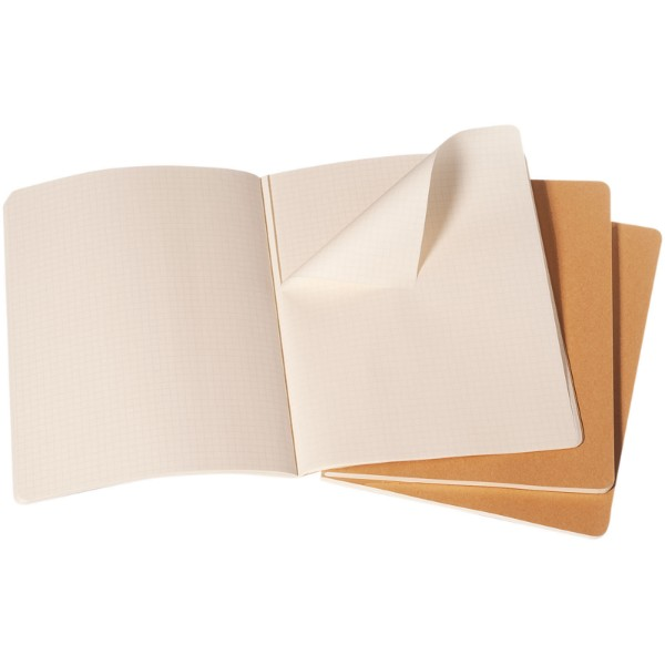 Cahier Journal XL - squared - Kraft brown