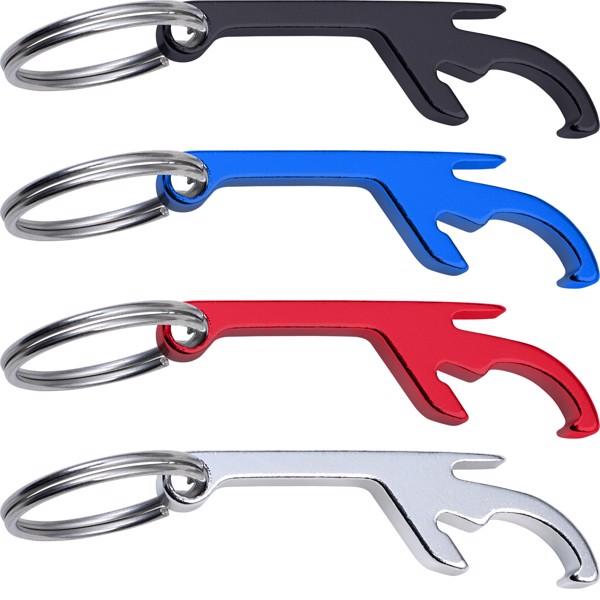 Aluminium 3-in-1 key holder - Black