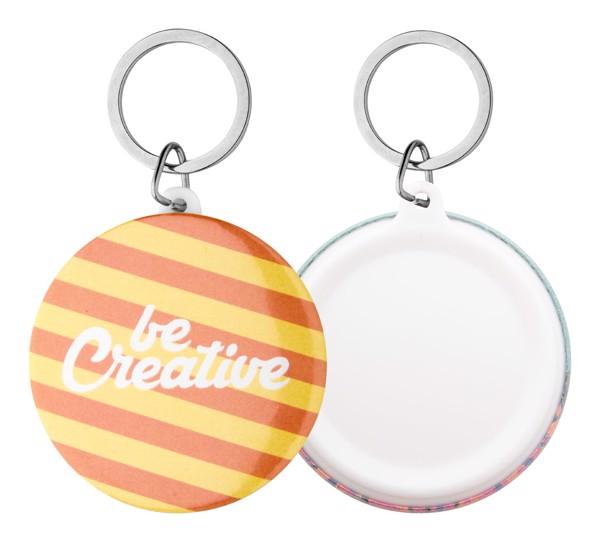 Button-Schlüsselanhänger KeyBadge Maxi - Weiß