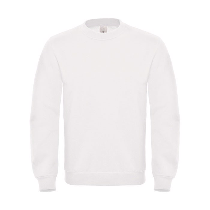 Cotton Rich Sweatshirt Id.002 Cotton Rich Sweatshirt - White / 4XL