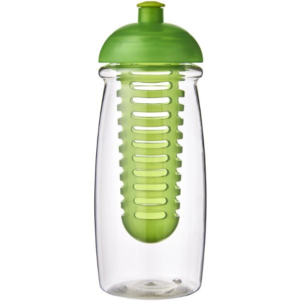 Sportovní láhev s infuzérem a kupolovitýmvíčkem H2O Pulse® 600 ml - Průhledná / Limetka
