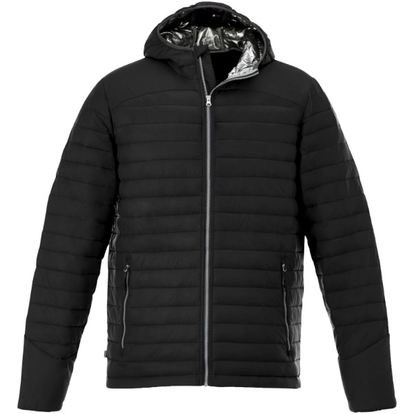 Silverton men's insulated packable jacket - Solid Black / S