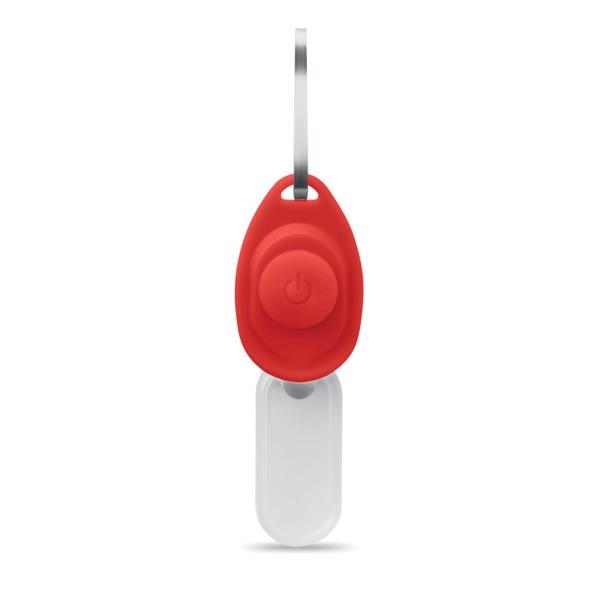 Zipper puller safety light Zippy - Red