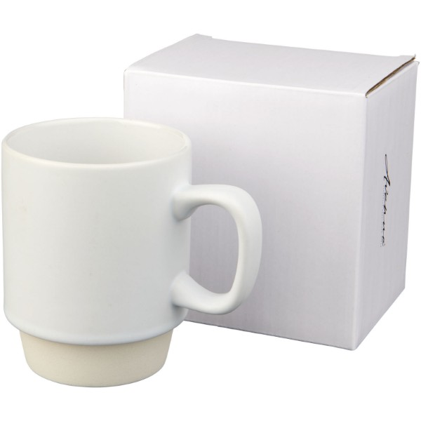 Arthur 420 ml ceramic mug - White
