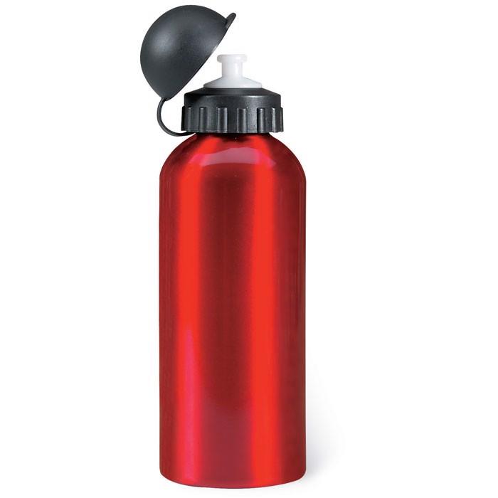 Metal drinking bottle (600 ml) Biscing - Red