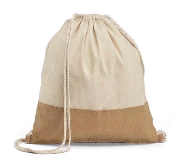 SABLON. Σακίδιο πλάτης με σχοινιά από 100% βαμβάκι