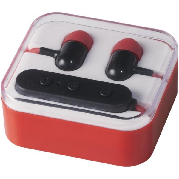 Sluchátka Pop Bluetooth® - Červená s efektem námrazy