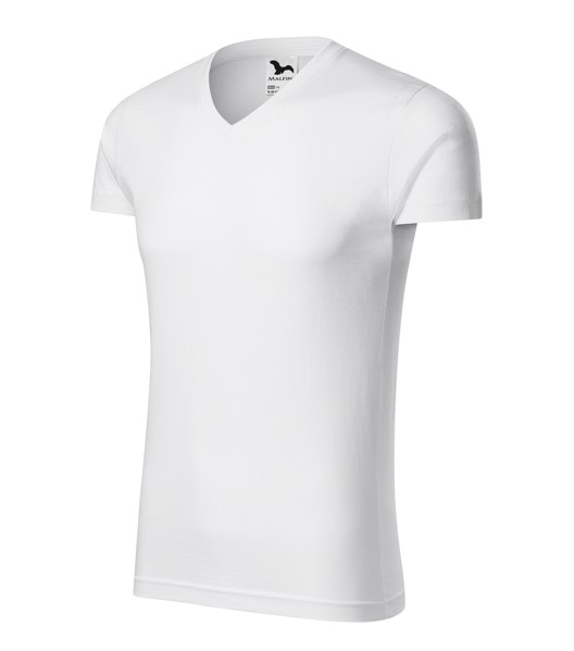 T-shirt Gents Malfini Slim Fit V-neck - White / 3XL