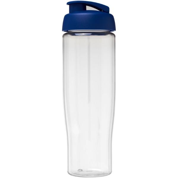 Sportovní láhev s vyklápěcím víčkem H2O Tempo® 700 ml - Průhledná / Modrá