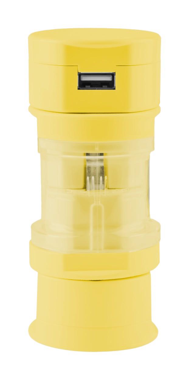 Cestovní Adaptér Tribox - Žlutá