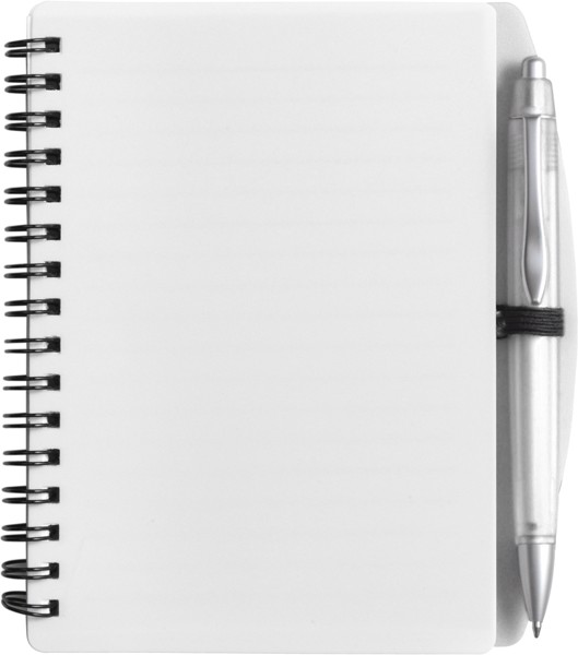 PP notebook with ballpen - White