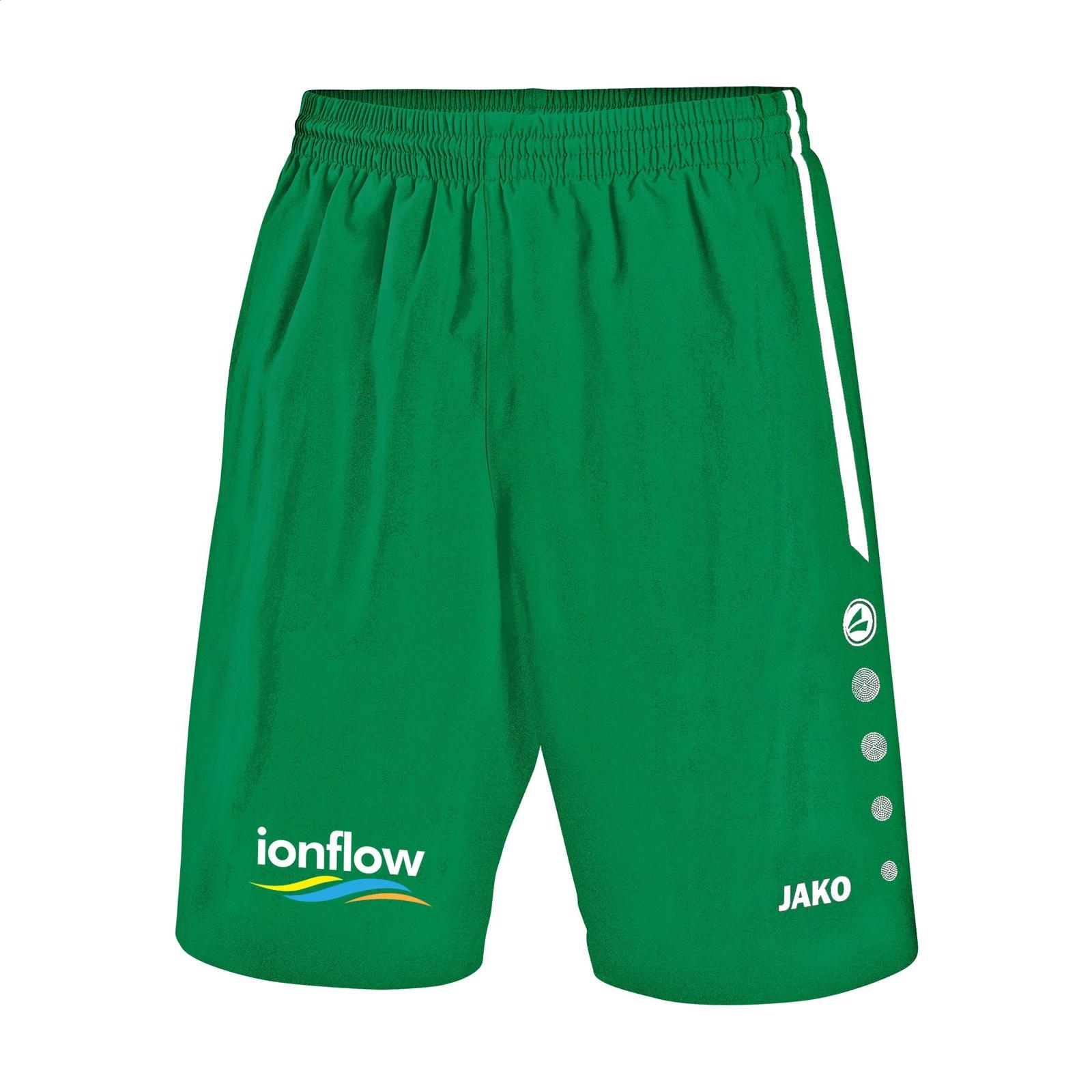 Jako® Short Turin Kids sportspants - Green / White / 152