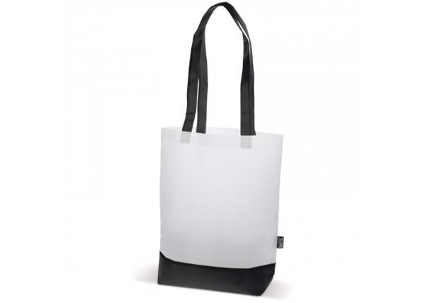 Bag duo-tone non-woven 75g/m² - White / Black