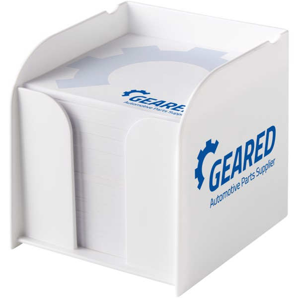Vessel large memo block and holder - White