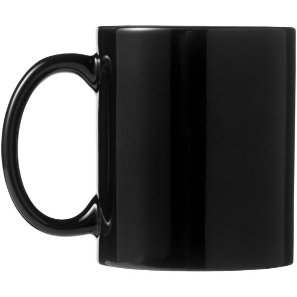 Santos 330 ml ceramic mug - Solid black