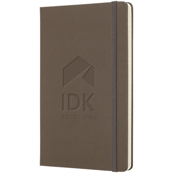 Classic L hard cover notebook - plain - Earth brown