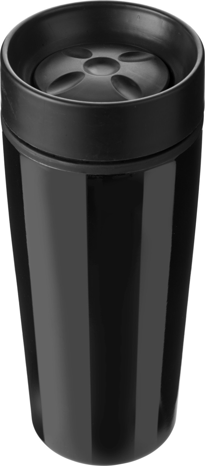 Stainless steel double walled travel mug - Black