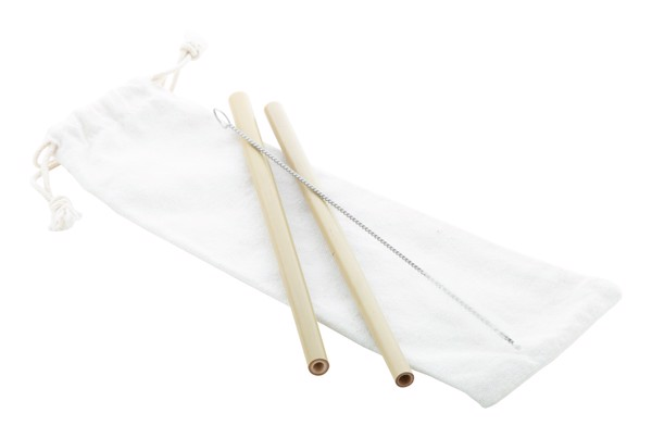 Bamboo Straw Set BooSip - Natural