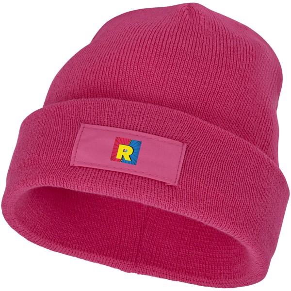 Čepice Boreas s políčkem na logo - Magenta