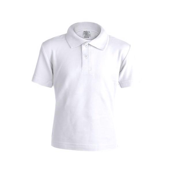 "Kids White Polo Shirt ""keya"" YPS180 - White / S"