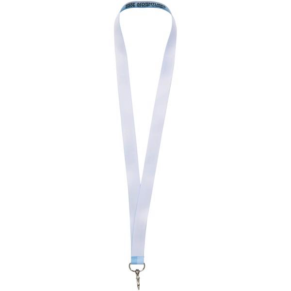 Luka celofarebná lanyard - jednostranná - Bílá / 10mm