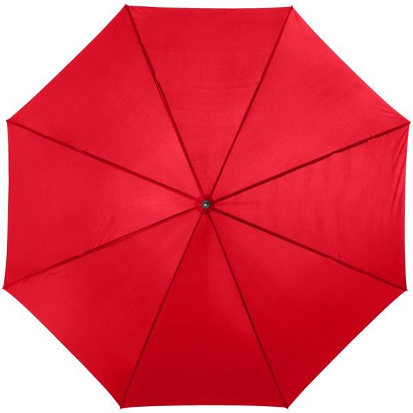 """23"""" deštník Lisa s automatickým otvíráním a dřevěnou rukojetí - Červená s efektem námrazy"""