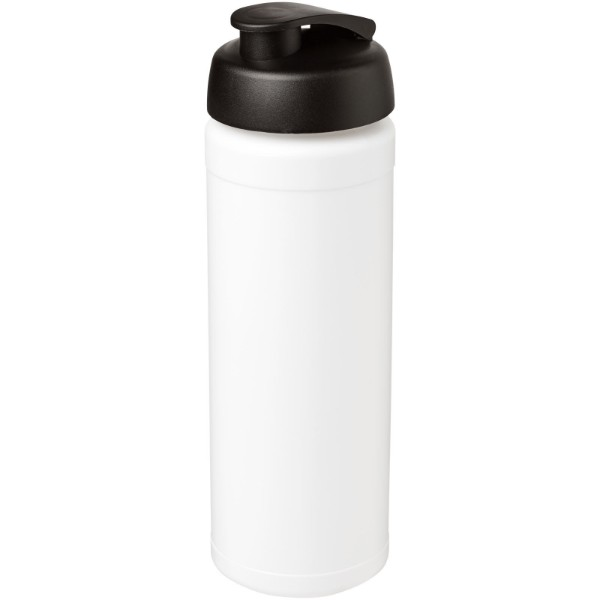 Baseline® Plus grip 750 ml flip lid sport bottle - White / Solid black