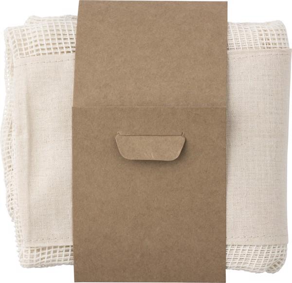 Set de 3 bolsas de malla de algodón orgánico