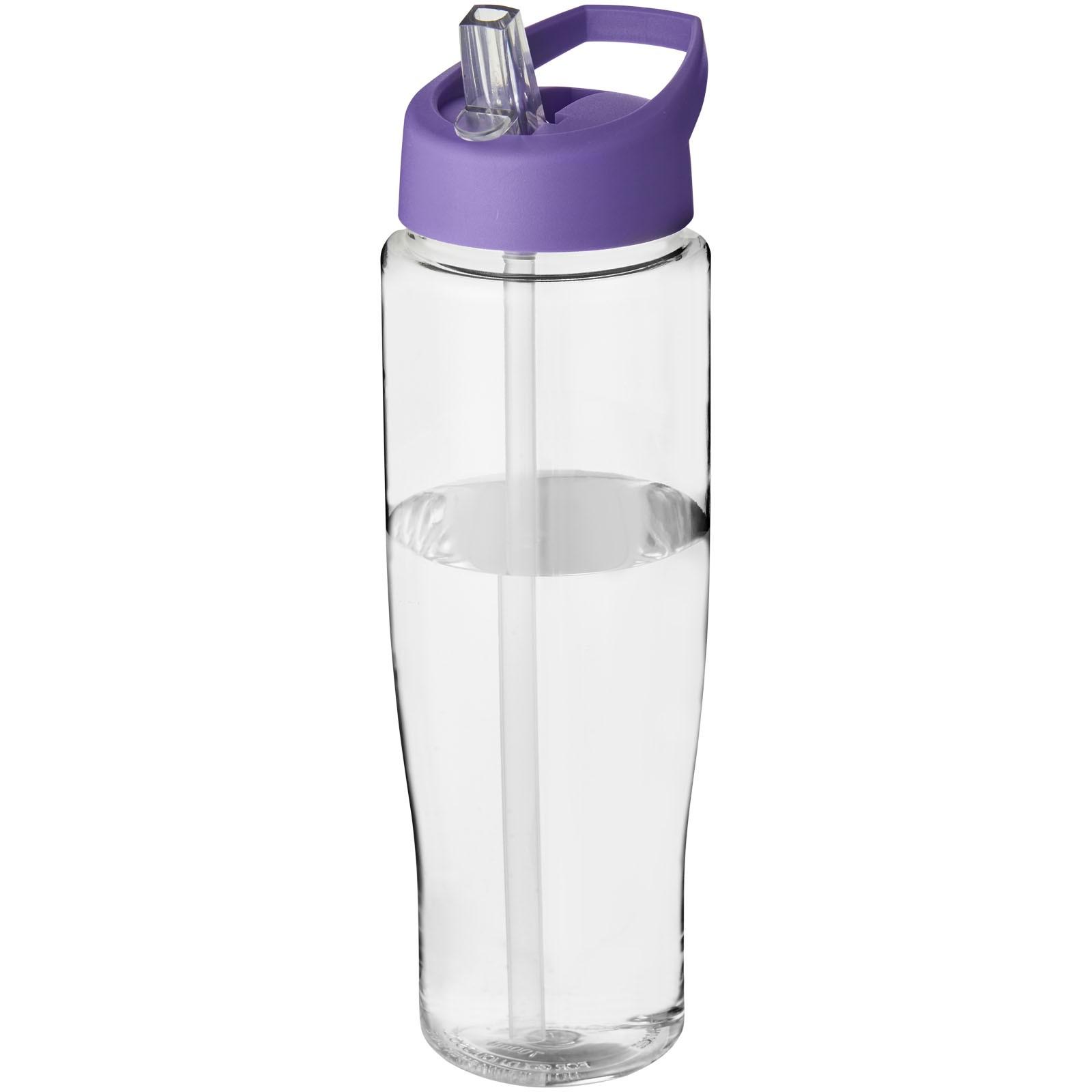 Sportovní láhev s víčkem s hubičkou H2O Tempo® 700 ml - Průhledná / Purpurová