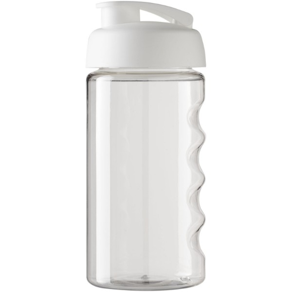 H2O Bop® 500 ml flip lid sport bottle - Transparent / White