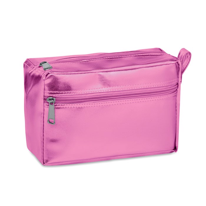 Cosmetic bag in shiny PVC Silene - Pink