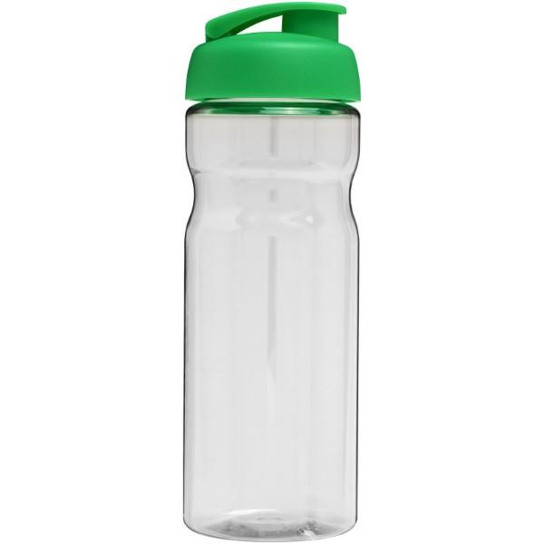 Sportovní láhev s vyklápěcím víčkem H2O Base® 650 ml - Průhledná / Zelená