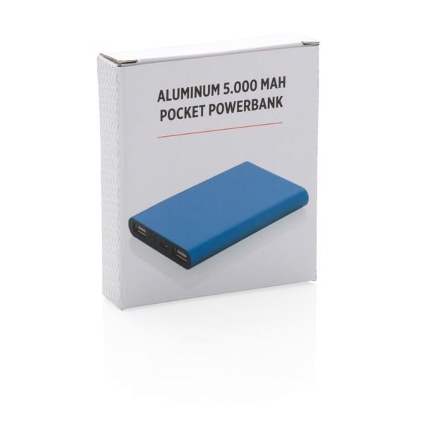 Hliníková kapesní powerbanka 5 000 mAh - Modrá