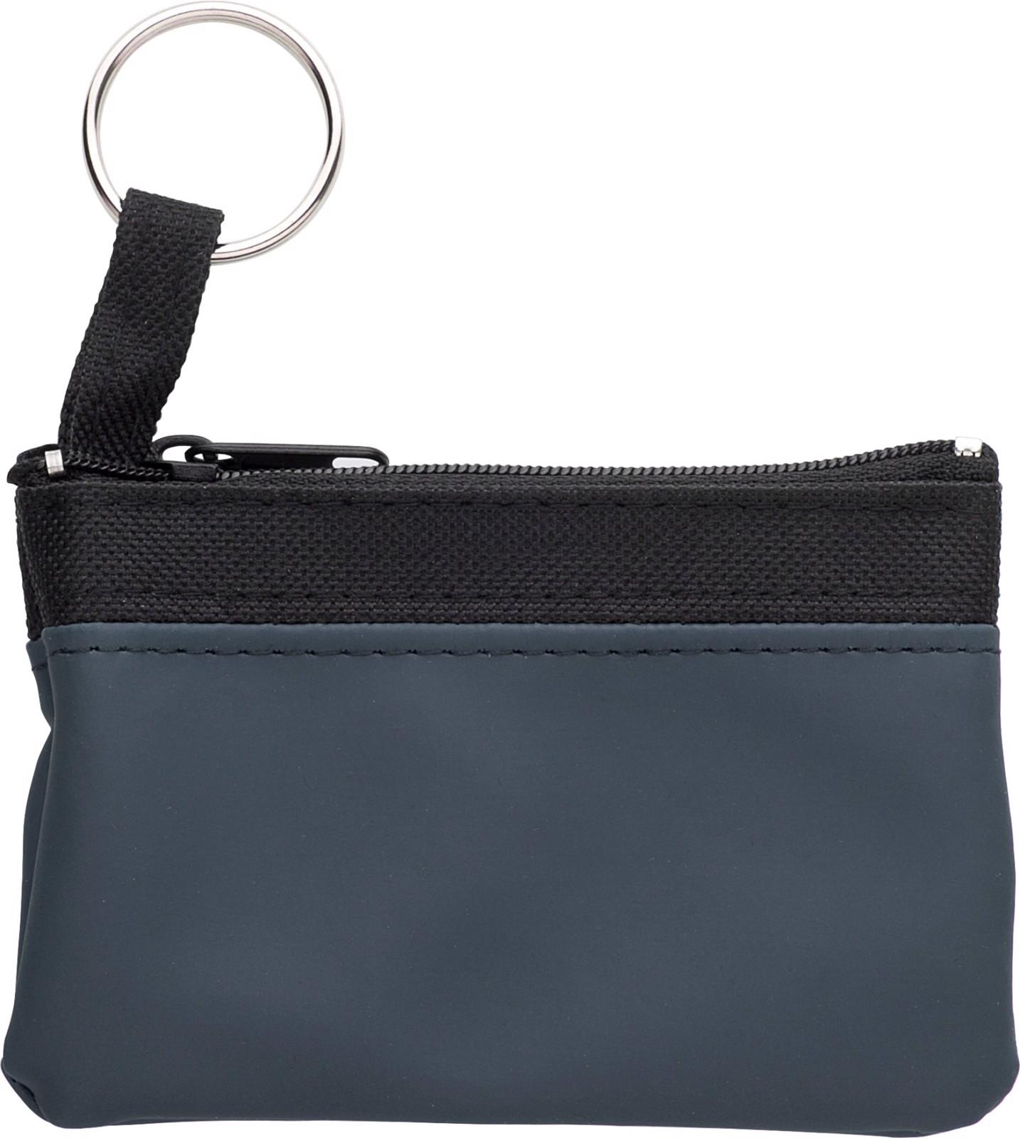 Nylon (600D) key wallet - Blue