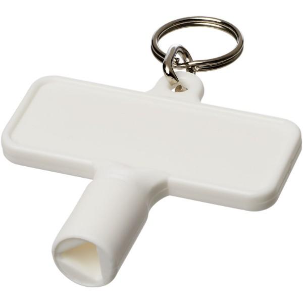 Maximilian obdélníkový montážní klíč s klíčenkou - Bílá