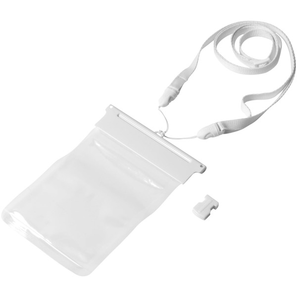 Splash wasserfeste Touchscreen Smartphonehülle - Weiss / Transparent Klar