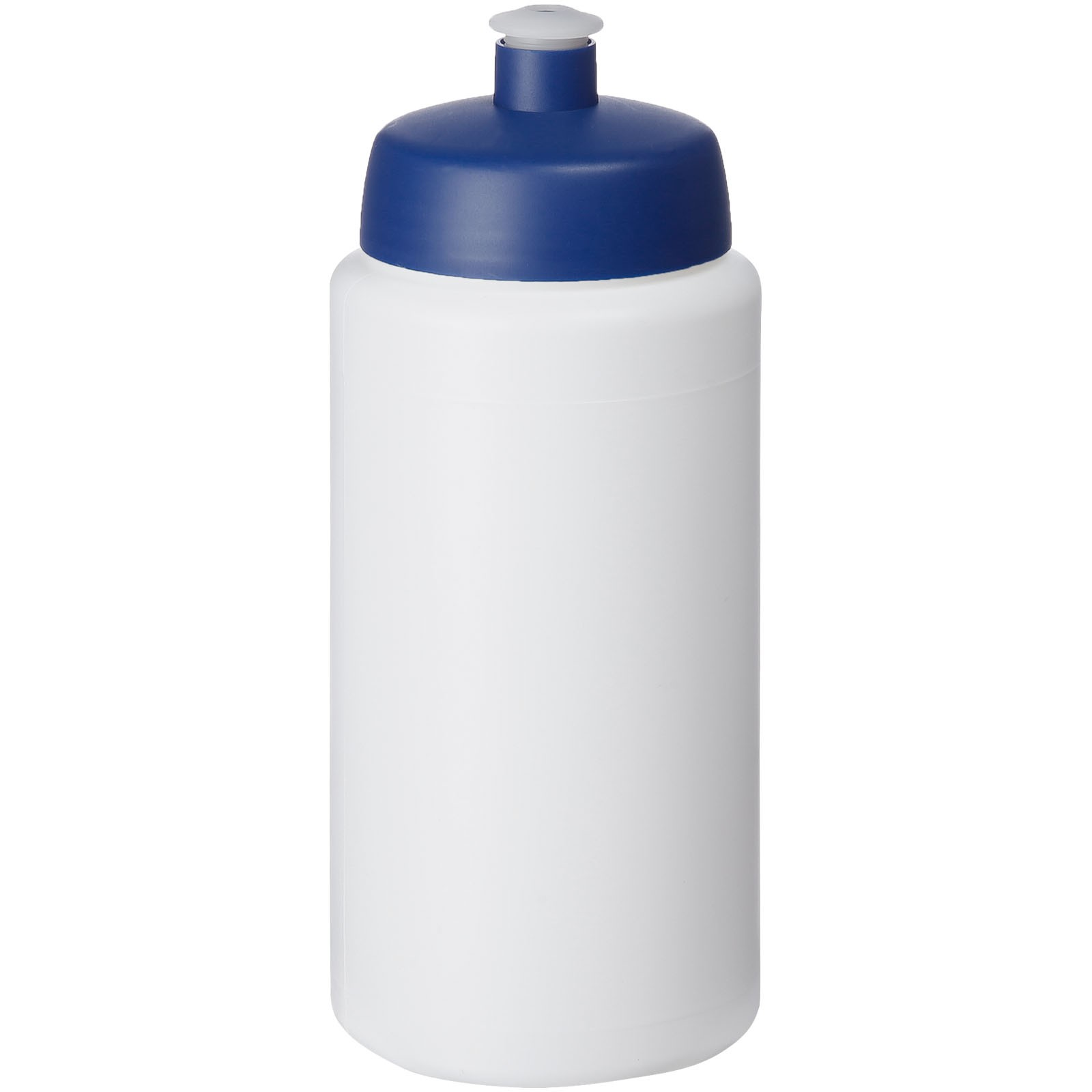Baseline® Plus grip 500 ml sportovní lahev s víčkem na sport - Bílá / Modrá