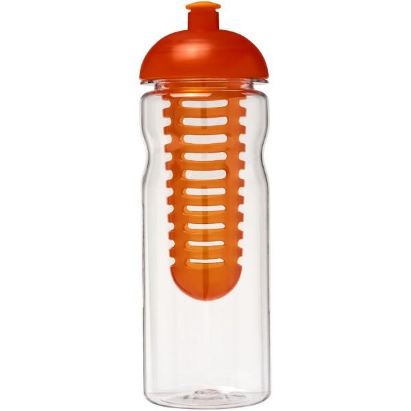 H2O Base Tritan™ 650 ml dome lid bottle & infuser - Transparent / Orange
