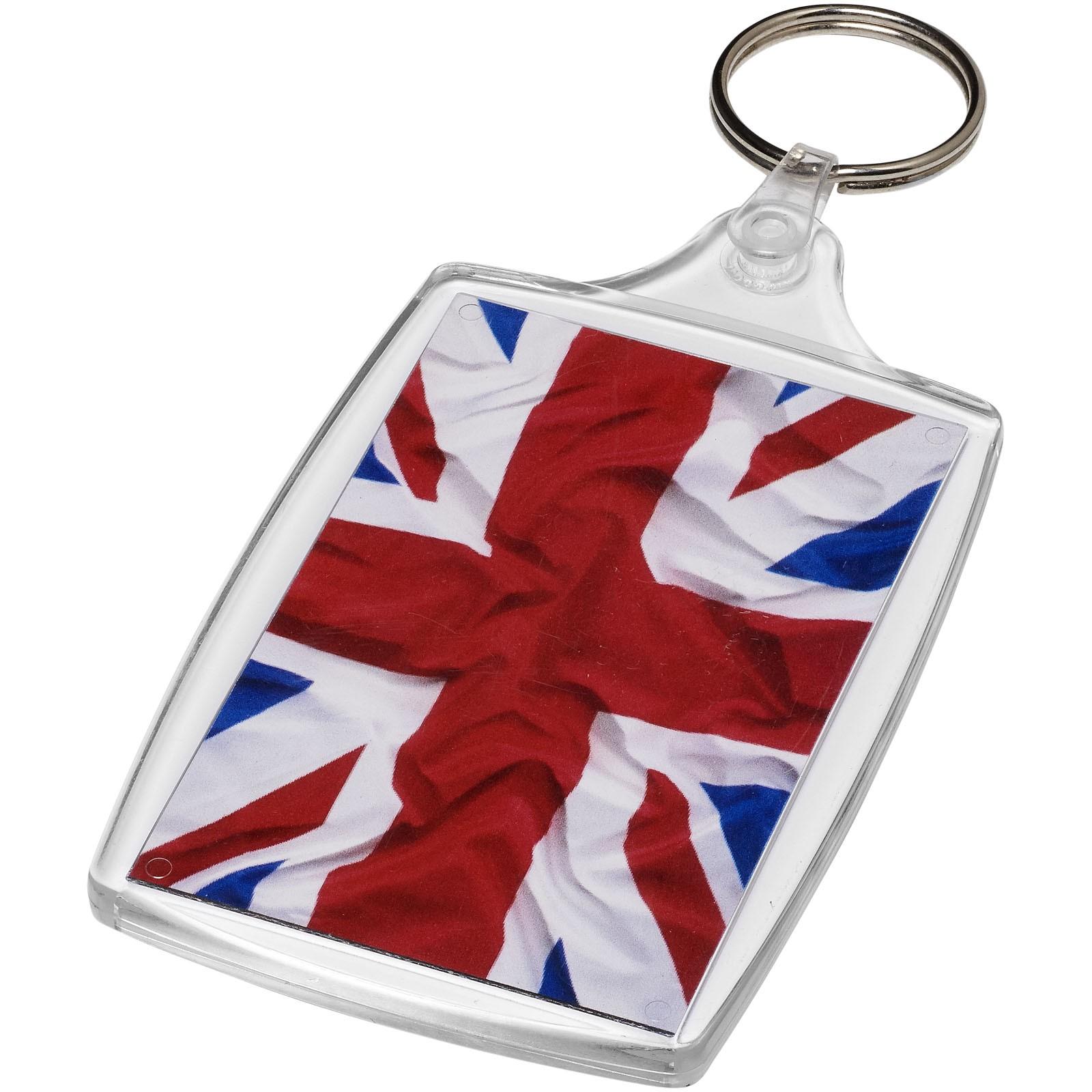 Baiji L6 large keychain with plastic clip