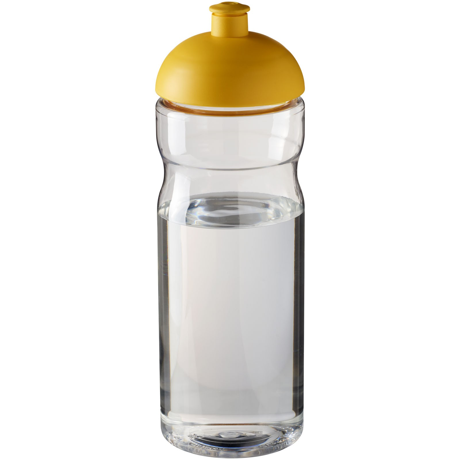 H2O Base® 650 ml dome lid sport bottle - Transparent / Yellow