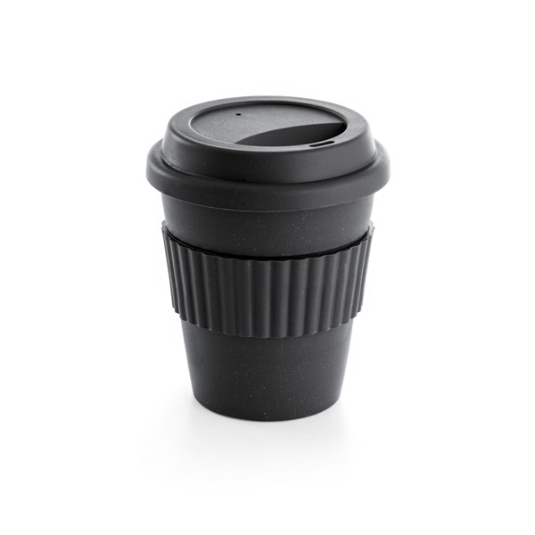 CUPPA. Travel cup with lid 380 ml - Black