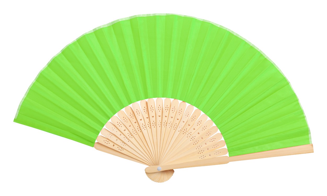 Hand Fan Kronix - Lime Green / Natural
