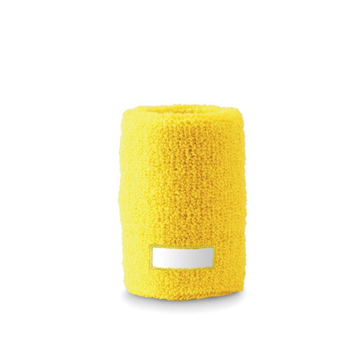 Opaska-frotka na nadgarstek Guaiband - żółty