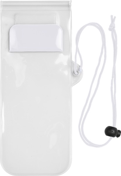 PVC pouch for mobile devices - White