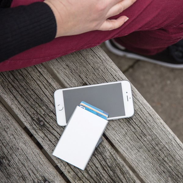 C-Secure aluminium RFID card holder - Silver