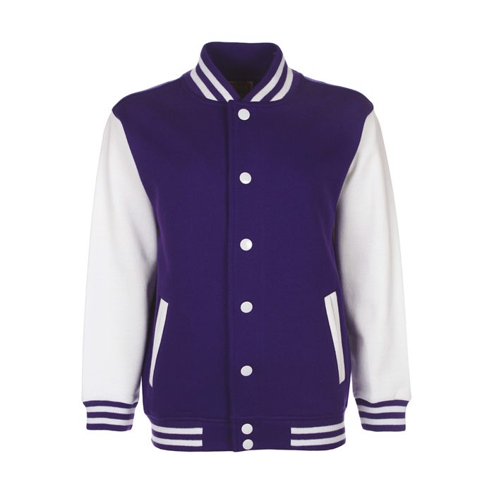 Dětská varsity bunda Junior Varsity Jacket Fv002 - Purple / L