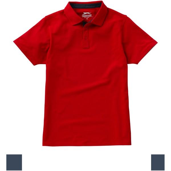 Polokošile Hacker s krátkým rukávem - Červená s efektem námrazy / Navy / L