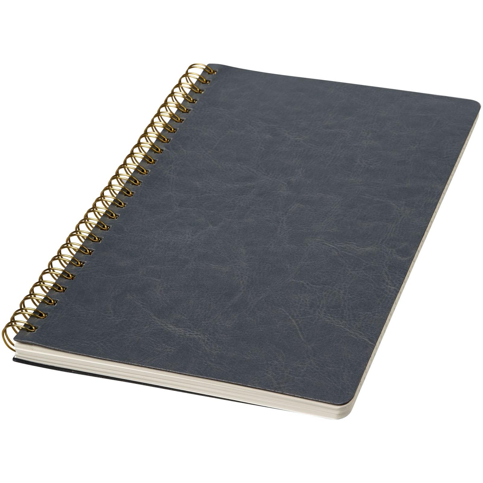 Deník A5 Spiraly s koženým vzhledem - Šedá